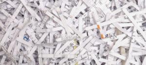 Messaging Shredded Paper