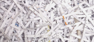 Messaging Shredded Paper